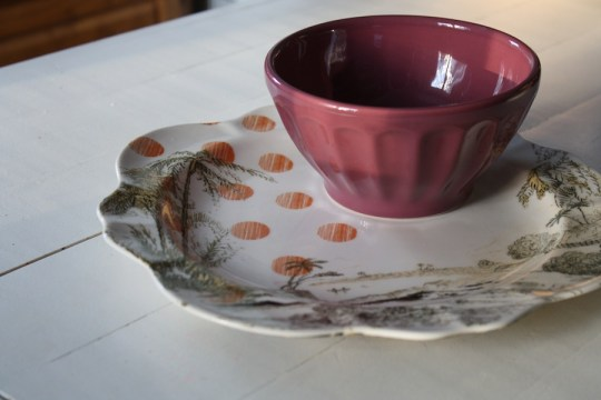 My own purchases: New Anthropologie plowl and bowl.