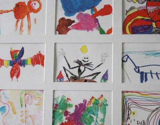 Pretty kids art collage.
