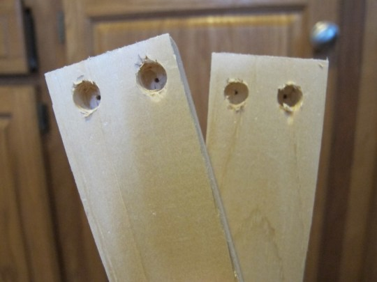 Pre-drilled holes with a wide end will let the screw head sit deeper and not protrude.