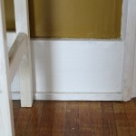 Existing baseboard trim.