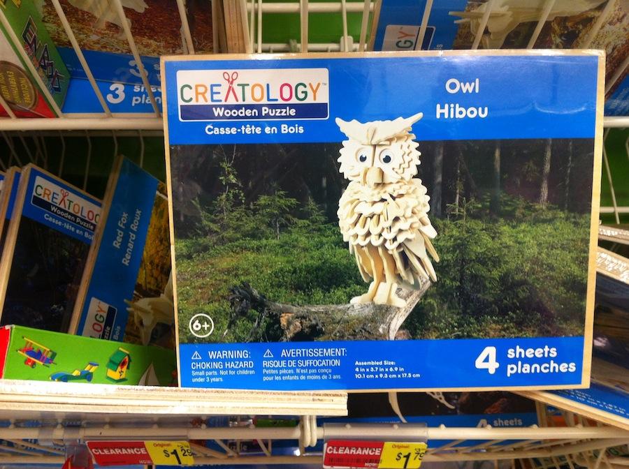 3d owl puzzle instructions