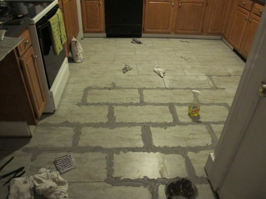 Wonderful kitchen grouting!