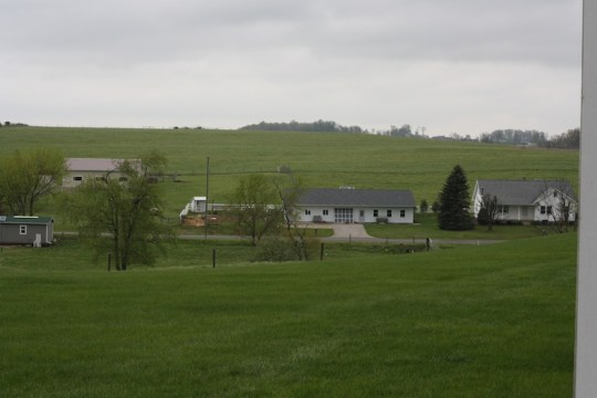 Looking out over Amish Countryside, Mt. Hope, OH.
