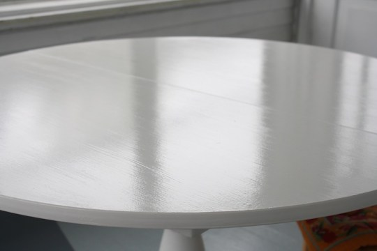 Super glossy tabletop.