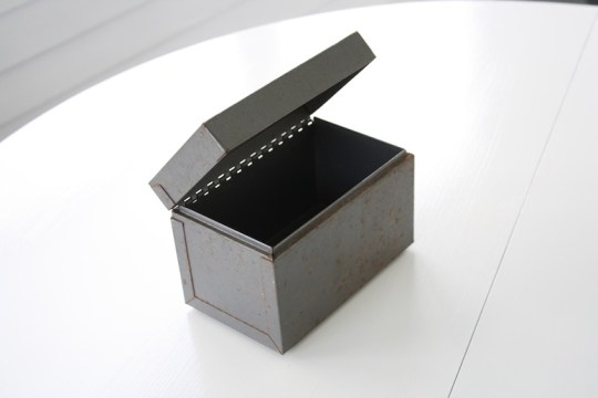 Freebie index card holder. With rubber feet.