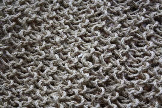 Close up on the sisal rug.