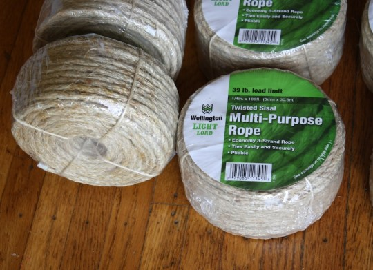 Sisal x 6, ordered from amazon.com.