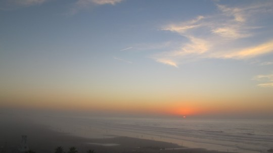 Sunset over the Atlantic Ocean from Casablanca, Morocco.