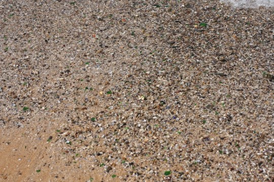 Glass litter in Morocco.