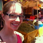 Me, and tea, in a Moroccan Souk.