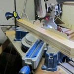 I used the miter saw to cut boards 4 at a time.