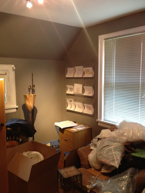 Getting ready to transform this office into a nursery!