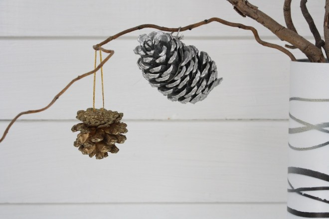 Little handmade pine cone ornaments.