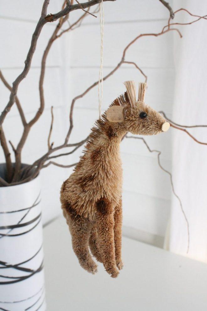 Giraffe ornament from mom.