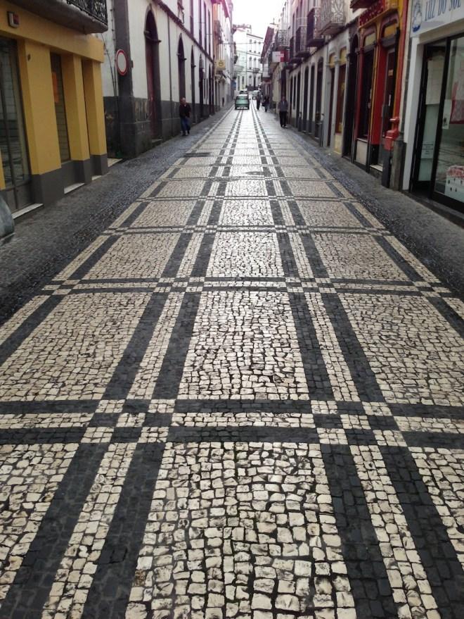 Basalt Mosaic Sidewalks in the Azores.