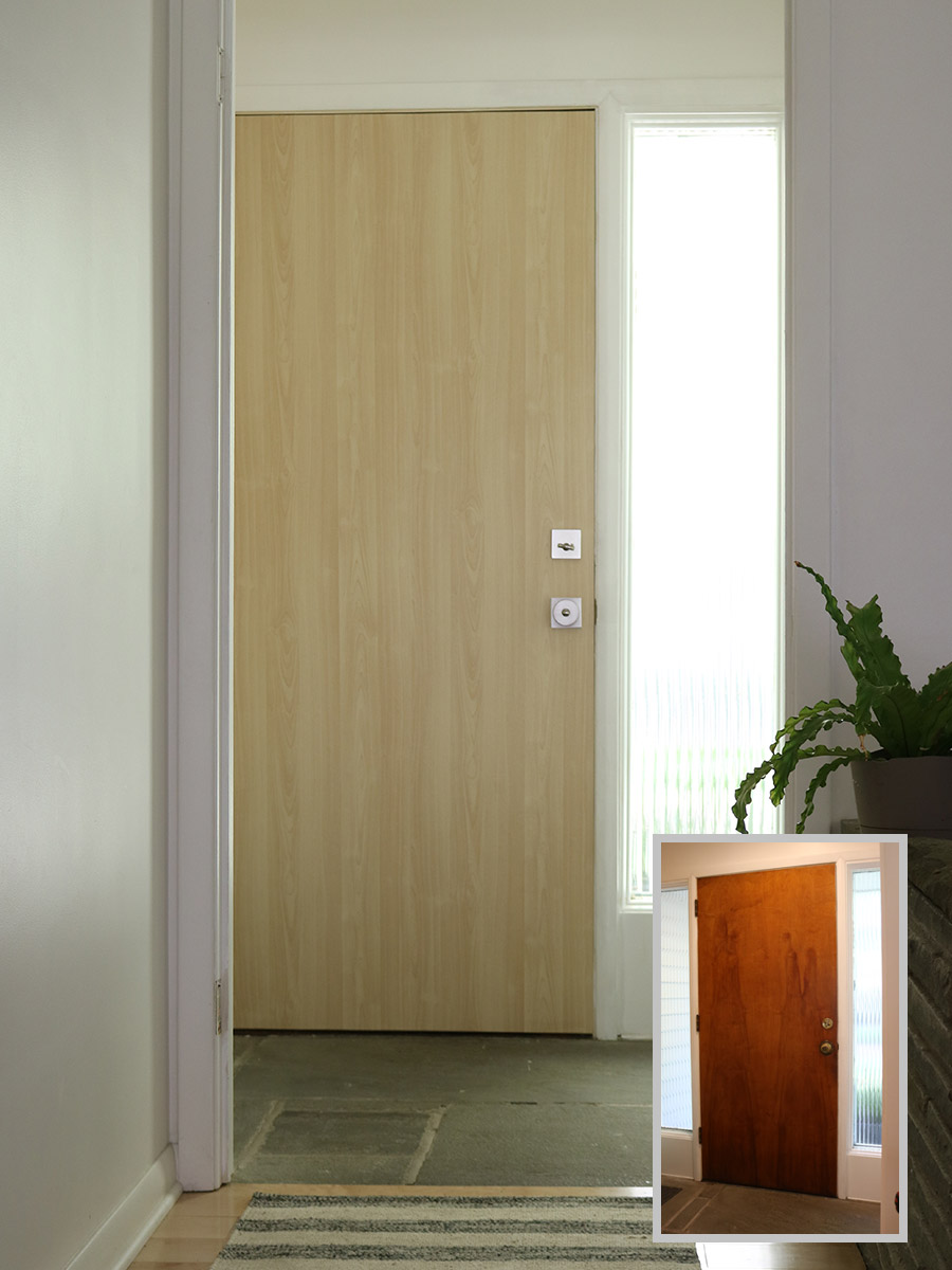 For minimalist inexpensive home porch design front door with curtains