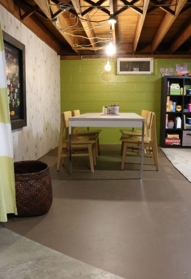 Our basement art room makeover and transformation.