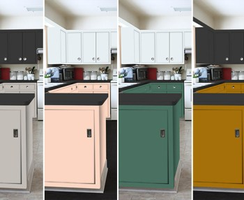 Pretty colors of paint for kitchen cabinets.