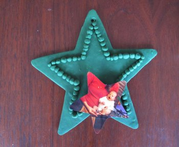 Baby's first Christmas ornament – an easy DIY craft using a photo and oven bake clay.