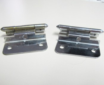 How to clean metal hinges.