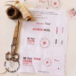 DIY: étiquettes & papier rien que pour vous, c'est cadeau!
