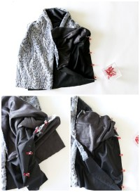 How to draft a shawl collar vest - The Sewing Rabbit