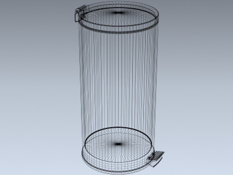Stainless Steel Trash Can 3d Model By Mesh Factory