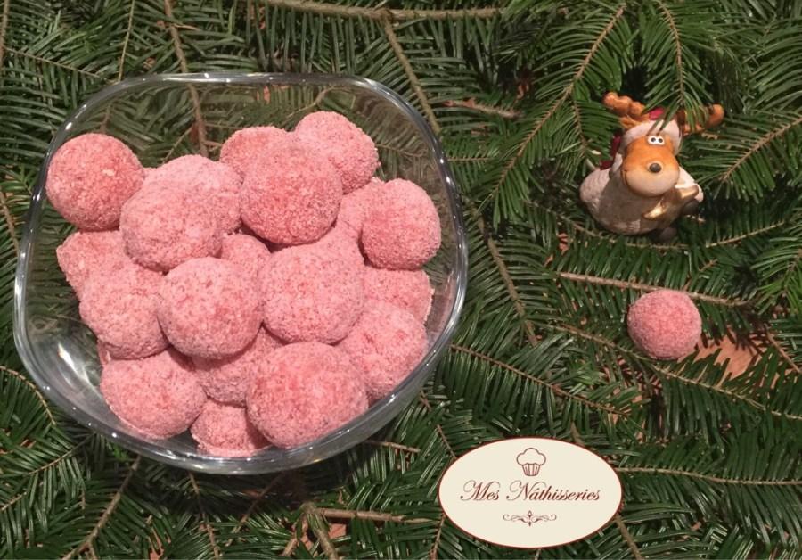 truffes aux biscuits rose de reims