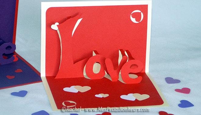 Carte « Love » 3D \u2013 Kirigami à imprimer pour la Saint Valentin