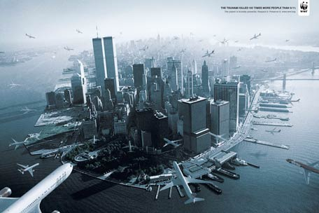 The tsunami killed 100 times more people than 9/11. The planet is brutally powerful. Respect it. Preserve it.