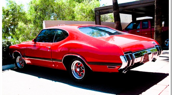 1970 Oldsmobile Cutlass 442 rear