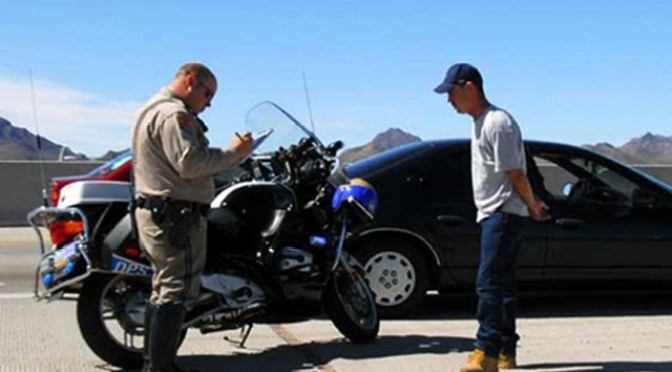 cop speeding ticket
