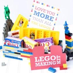 LEGO THEMED GIFT BASKET