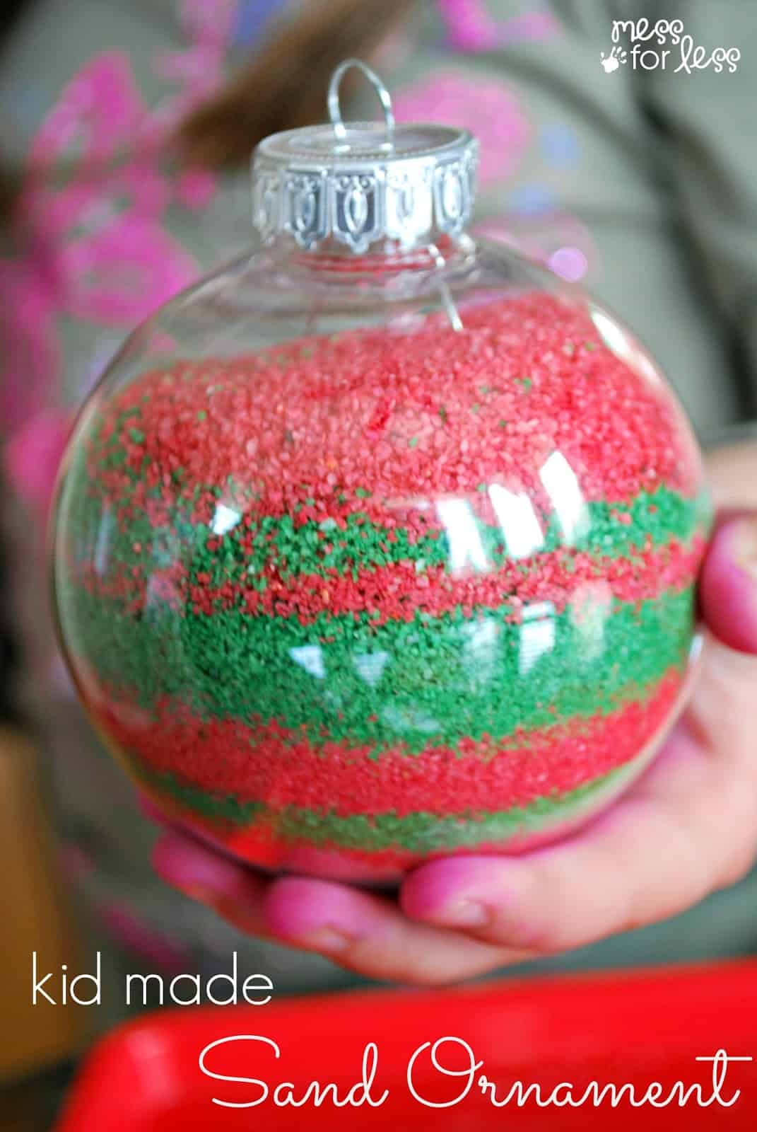 Kids homemade christmas ornaments create memories this holiday season with these eye catching sand ornaments