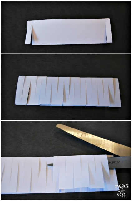 Science Experiments for Kids - Index Card Chain - Mess for Less - make index card