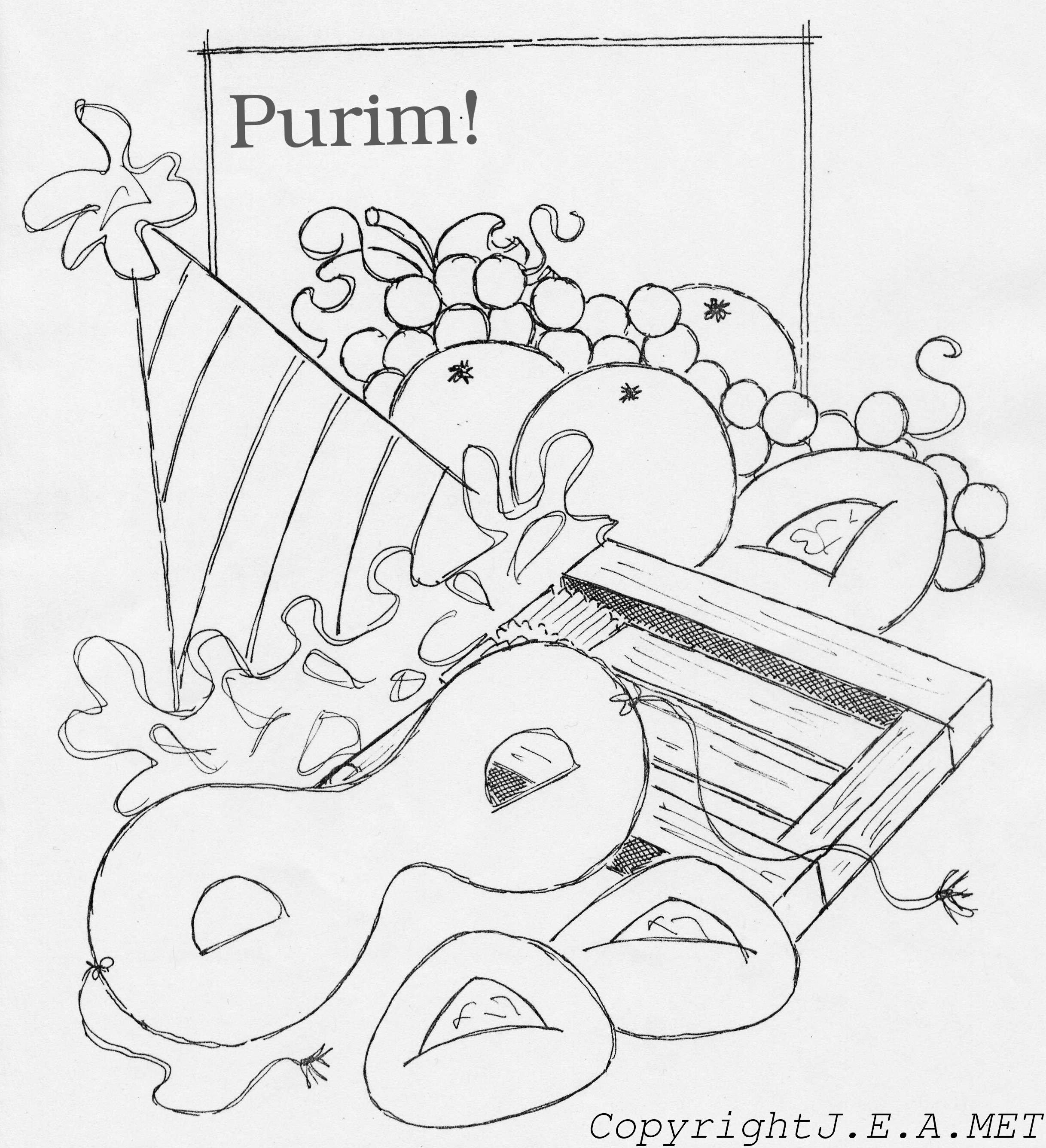 Purim Coloring Pages - Eskayalitim