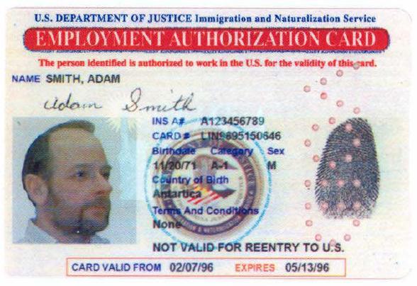 Sample Employment Authorization Document Messing Tucson