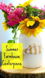 Summer Farmhouse Centerpiece