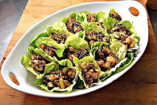 Shrimp Quinoa Lettuce Wraps