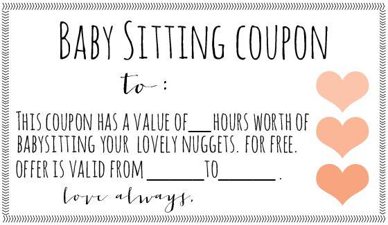 babysitting vouchers printable