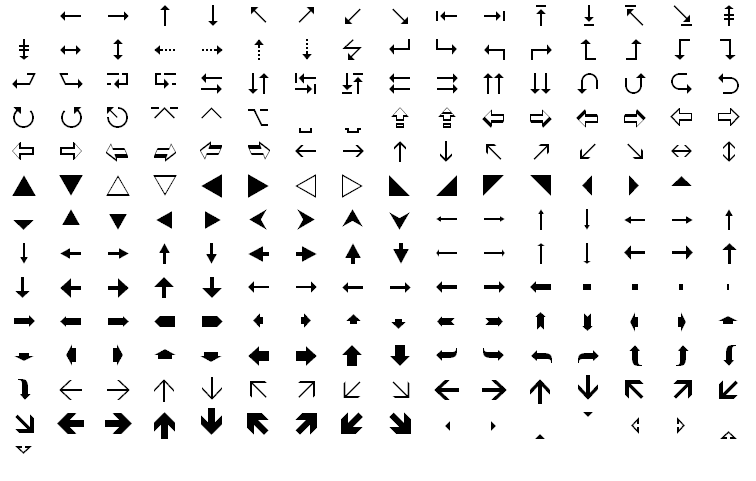 WingDings fonts