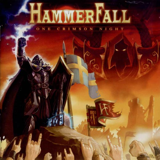 Playing In The Fall Wallpaper Hammerfall One Crimson Night Reviews Encyclopaedia