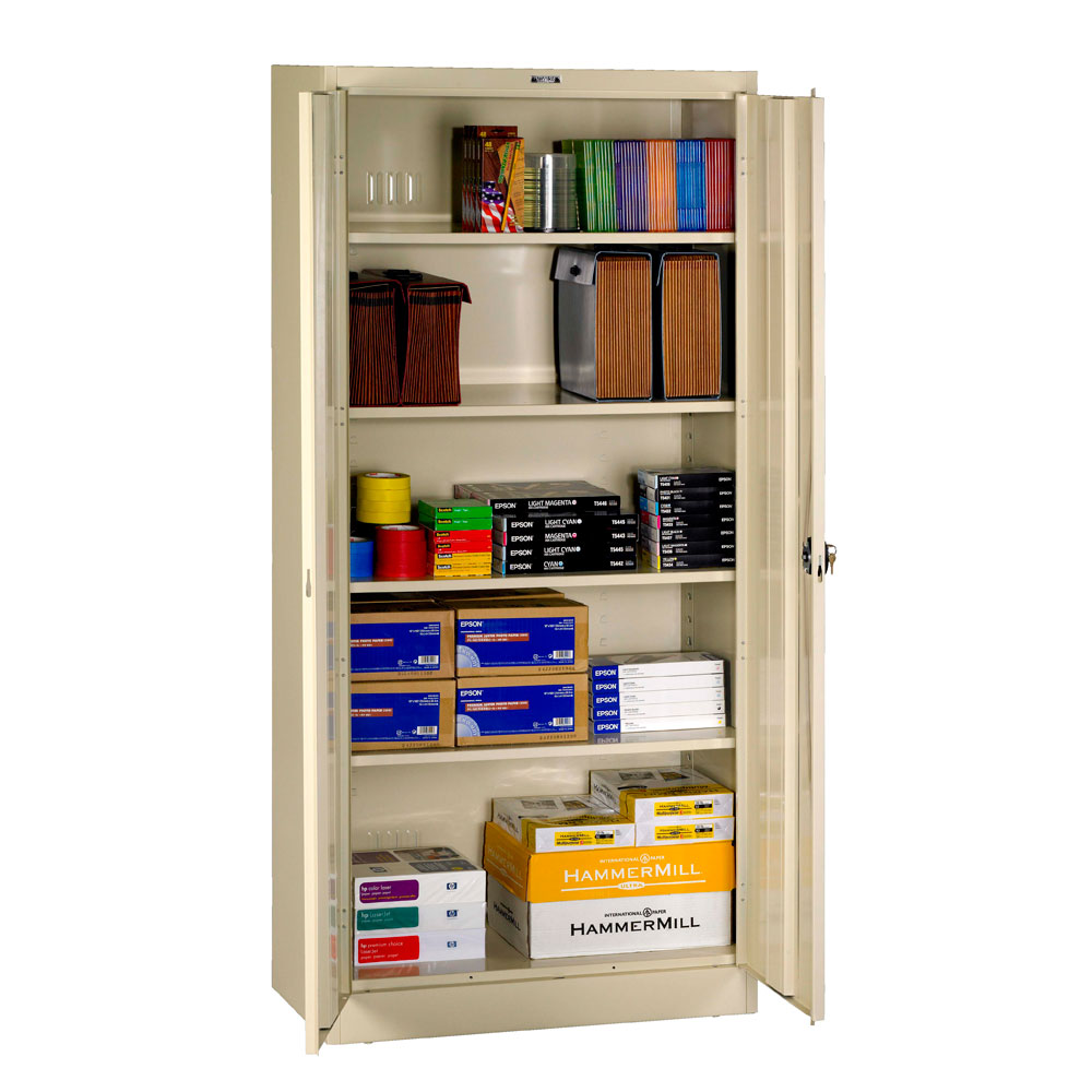 Tennsco, 7818RH, 7824RH, Deluxe Storage Cabinet, Recessed