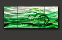 Green Metal Art ~ Modern Abstract Green Metal Art Design