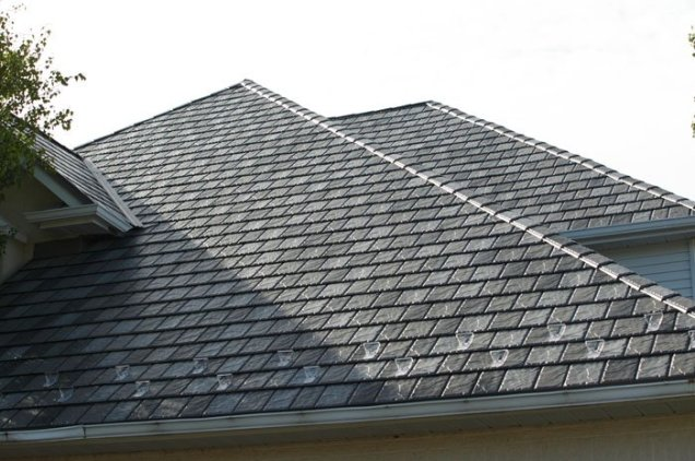 Here is a closer look at that beautiful slate-style metal roof.