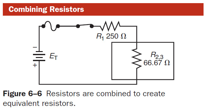 current in combination circuits