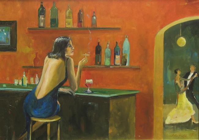 absinthe6 Cafe Absinthe II Tryptyk by Artur Kolba
