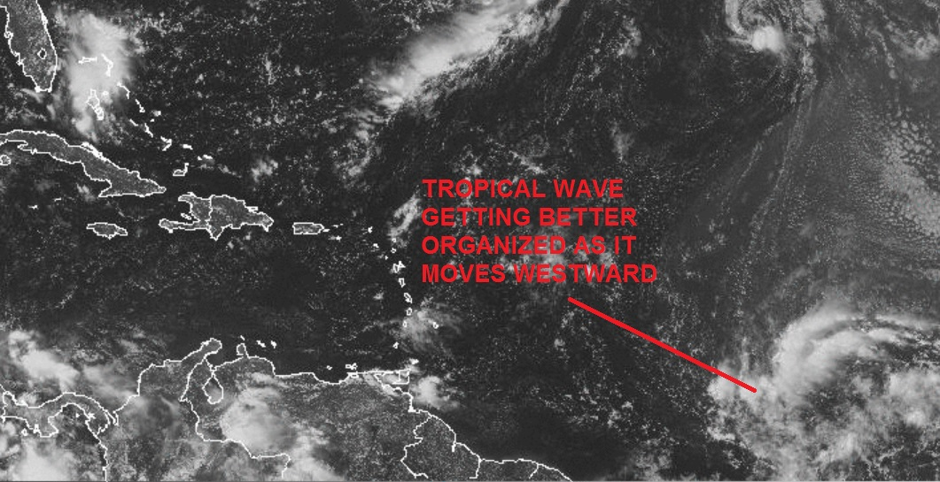 Tropical System Getting Better Organized