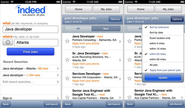 10 essential job hunting apps for ios windows blackberry and android indeed resume
