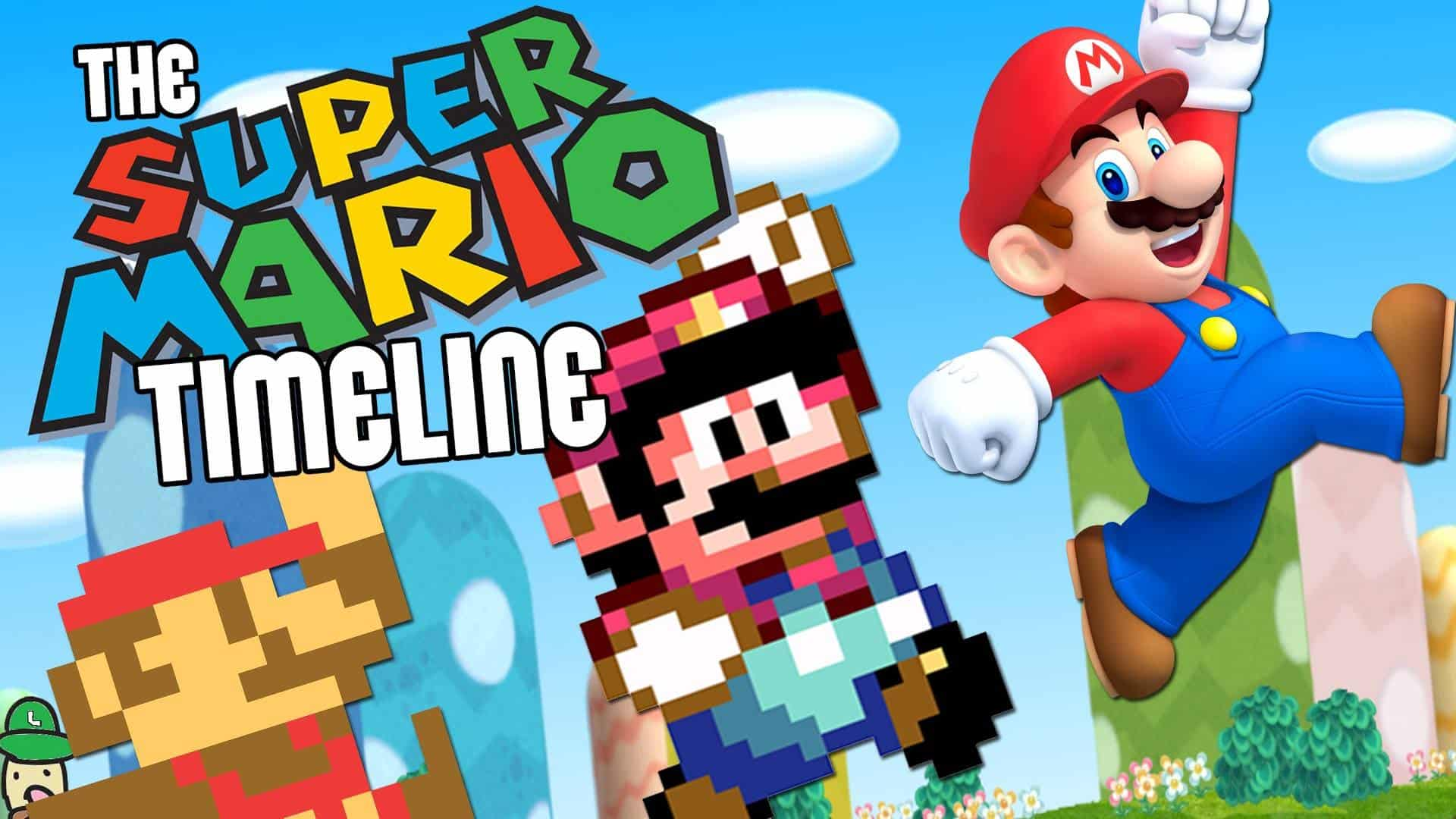 Nintnedo Fall Wallpapers Video The Entire Nintendo Mario Game Series In